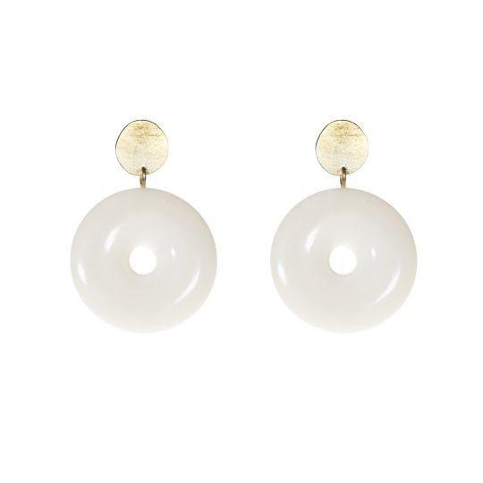Vilma Circular Double Stud Earrings